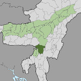 Map of Cachar, Assam, India