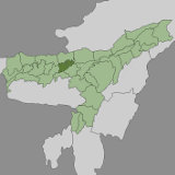 Map of Darrang, Assam, India