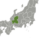 Map of Gifu, Japan