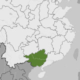 Map of Guangxi, China