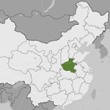 Map of Henan, China