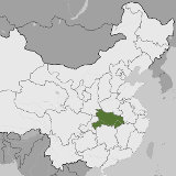Map of Hubei, China