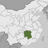 Map of Hunan, China