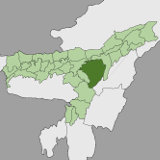 Map of Karbi Anglong, Assam, India