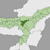 Map of Nagaon, Assam, India