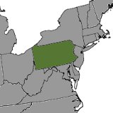 Map of Pennsylvania, United States