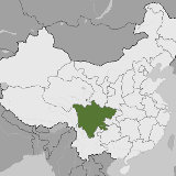 Map of Sichuan, China