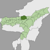 Map of Sonitpur, Assam, India