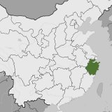 Map of Zhejiang, China