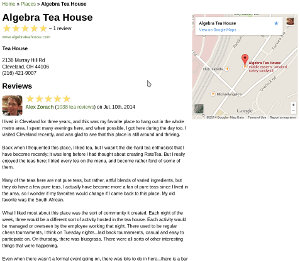 A review of Algebra Tea House