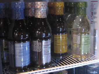 Bottled Teas in a Refridgerator Case
