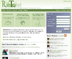 Screenshot of RateTea.net homepage