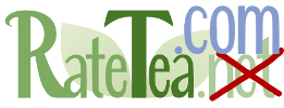 RateTea Logo with .net crossed out and replaced with .com