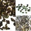 Collage of Four Green Oolongs